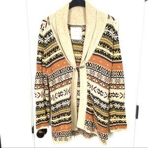 L.O.G.G. H&M long cowl neck cardigan sweater